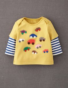 I  don't  pin boy stuff often, but this  mini boden is cute! Layered Appliqué T-shirt