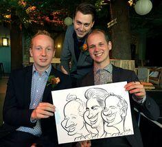 Optreden tijdens bruiloftsfeest in Boshuys Best - De Karikaturist