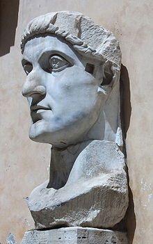 Kopf der Kolossalstatue Konstantins des Großen; Kapitolinische Museen, RomRömisches Reich – Wikipedia