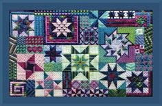 Starstruck brings us a stunning canvaswork design filled with various shades of purples, pinks, blues, and greens - and of course, stars! This one will be sure to catch the eye of anyone that sees it, and the beautiful colors will make it a wonderful pleasure to stitch!
