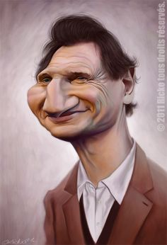 Liam Neeson Srsly we know he has no brain after his recent comments abt Americans and Guns. Funny Caricatures, Celebrity Caricatures, Celebrity Drawings, Liam Neeson, Cartoon Faces, Funny Faces, Cartoon Art, Caricature Drawing, Funny Drawings