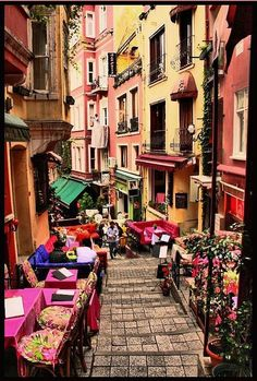 French Street in Istanbul, Turkey Places Around The World, Oh The Places You'll Go, Travel Around The World, Places To Travel, Places To Visit, Around The Worlds, Turkey Destinations, Travel Destinations, Pamukkale