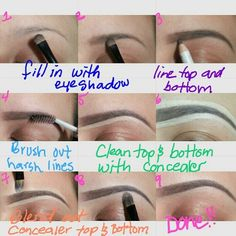 "the perfect brows how-to I know sooo many people who should read this! A full face of makeup looks sooo much better if you fix your brows! Sephora and Ulta also sell ""Brow Pencils"" and they are simply fantastic! Perfect Eyebrows Tutorial, Eyebrow Tutorial, Perfect Brows, Love Makeup, Makeup Tips, Makeup Looks, Makeup Tutorials, Quick Makeup, Clean Makeup"