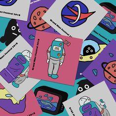 GMF2018 Official Artwork & Design - 그래픽 디자인 · 일러스트레이션, 그래픽 디자인, 일러스트레이션, 그래픽 디자인, 디지털 아트 Game Card Design, Passion Project, Typography Logo, Sticker Design, Designs To Draw, Game Art, Pop Art, Illustration Art, Graphic Design