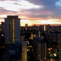 Sunset in Toa Payoh, Singapore.