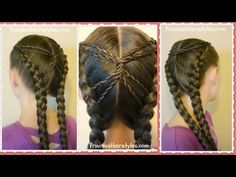 Hourglass Braid, Cute Hairstyles | Hairstyles For Girls - Princess Hairstyles