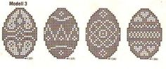 paques 9  Filet crochet, Ukranian Easter eggs