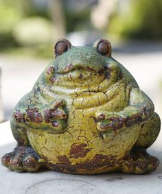 Take a look at this Sage Crackle Small Frog Figurine on zulily today!