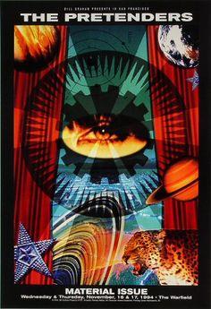 The Pretenders Bill Graham Presents Poster BGP101