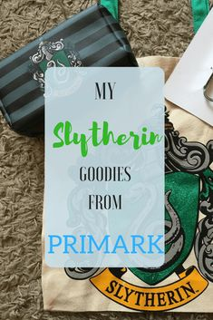 Primark has amazing Harry Potter merchandise and I am building a nice Slytherin collection