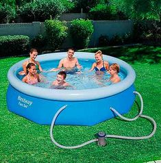 Includes pool and 330 gal filter pump. So I bought this pool to replace my intex 10 foot pool. The pump is powerful for a little thing. Nothing like a quick set pool to beat the heat! Small Above Ground Pool, Above Ground Swimming Pools, In Ground Pools, Oberirdische Pools, Cool Pools, Quick Up Pool, Filter, Pool Sizes, Summer Fun For Kids