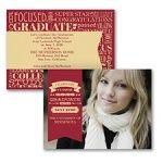 Word Cloud Photo Graduation High Schooled Invitation