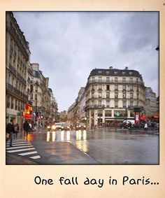 One fall day in Paris...