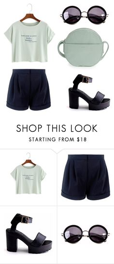 """""""gentle autfit"""" by lgosudareva on Polyvore featuring WithChic, Linda Farrow and BAGGU"""