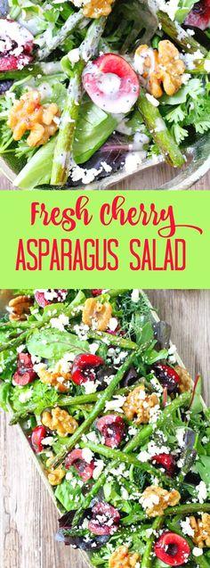 Fresh Cherry and Asparagus Salad