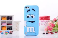 3d M&M'S chocolate candy silicone back cases covers for iPod 5 iPod touch 4 free shipping