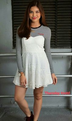 Maine Mendoza Outfit, Alden Richards, Film Festival, Desi, White Dress, Actresses, Outfits, Attraction, Idol