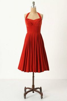 This is the one I want and its not available anymore :-(  Bridesmaid Dress 5: Rodna Halter Dress in Dark Orange from Anthropologie, $158