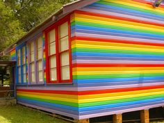 The rainbow house in Nimbin, NSW, Australia. It's an art gallery.