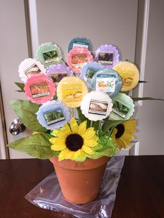 Mothers Day flowers with Yankee Candle wax melts - Our Secret Crafts
