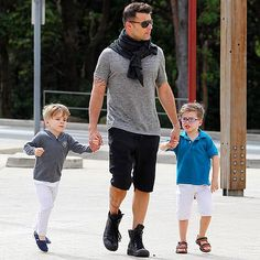While on a break from judging Australia's version of The Voice, proud papa Ricky Martin indulges in some Daddy and me – and me! – time in Sydney on Tuesday with 4-year-old twin sons Valentino and Matteo. http://www.people.com/people/gallery/0,,20679480,00.html#21290979