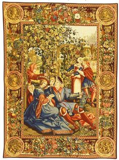 Wall tapestries from Europe and USA: medieval tapestry wall hangings, contemporary, nature and animal tapestries, religious, floral wall tapestry collections. Tapestry Weaving, Tapestry Wall Hanging, Wall Hangings, Medieval Tapestry, Tapestry Design, Renaissance Art, 14th Century, Wall Art Designs, Wall Sculptures