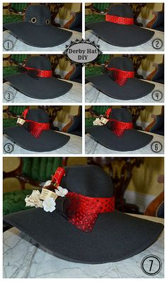 Need a little pinspiration? Here's an easy tutorial on how to make a Maker's inspired #Derby hat. #DIY #Kentucky