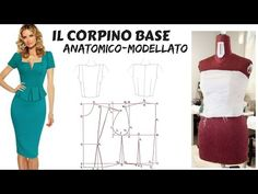 Tutorial: Come fare il cartamodello base del corpetto o body - YouTube Love Sewing, Pattern Making, Diy Clothes, African Fashion, Chic, Wedding Dresses, Womens Fashion, How To Make, Tops