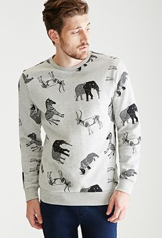 Safari Animal Print Sweatshirt | 21 MEN | #f21men