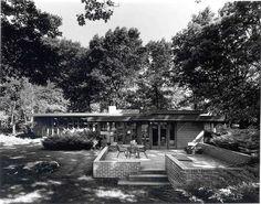 Melvyn Maxwell Smith House. Frank Lloyd Wright. Usonian Style. Bloomfield Hills, Michigan.1949-50: