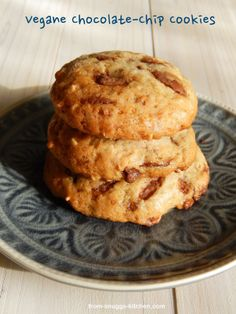 from-snuggs-kitchen: Vegane Chocolate-Chip Cookies