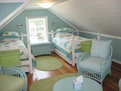 Love the painted beadboard & bright colors ~ Boardwalk Builders
