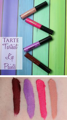 Tarte Tarteist Lip Paints review, swatches and looks! These are moisturizing, long wearing vegan liquid lipsticks.
