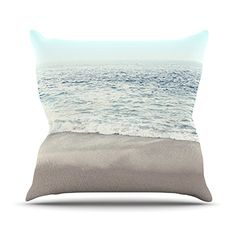 KESS InHouse MS2067AOP03 18 x 18-Inch 'Monika Strigel The Sea Blue Coastal' Outdoor Throw Cushion - Multi-Colour ** Be sure to check out this helpful article. #beautifulgarden