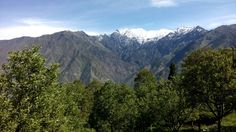 Incredible view of pir panjal range of Himalayas at Bharmour