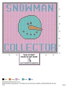 SNOWMAN COLLECTOR by TRICIA - WALL HANGING