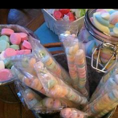The candies