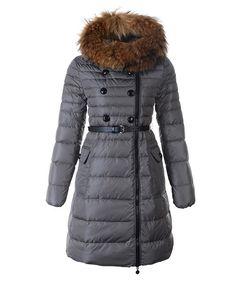 cheap moncler - Moncler Herisson Fashion Coat Womens Long Gray