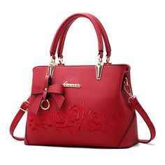 7fe31cd2e05 Women s Bag with Top Handle   Shoulder Strap-Classic and Elegant Design  with Rose Brand