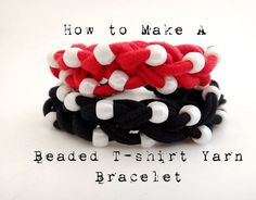 Have an old t-shirt lying around? Turn it into t-shirt yarn and create a super cute DIY beaded bracelet! You'll also learn how to finger knit in this lesson.