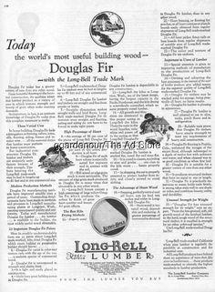 1926 Long Bell Lumber Douglas Fir Home Building Kansas City MO Missouri Wood Ad