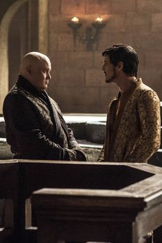 Varys and Oberyn Martell deep in conversation, Game of Thrones - Season 4 Episode 6