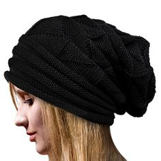 IL Caldo Unisex Warm Winter Hat Fashion Slouchy Beanie Knit Skull CapBlack -- More info could be found at the image url. (This is an affiliate link)