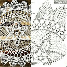Kira scheme crochet: Scheme crochet no. Crochet Doily Diagram, Crochet Doily Patterns, Thread Crochet, Filet Crochet, Irish Crochet, Crochet Home, Crochet Crafts, Crochet Projects, Crochet Sunflower