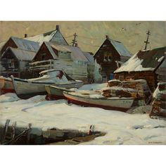 """""""After the Blizzard, 1958,"""" Aldro Thompson Hibbard, oil on canvas, 24 x 32 1/4'', private collection."""