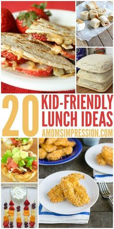Kids Meals 20 kid friendly lunches - healthy recipe ideas for School lunches. Kids will love these healthy ideas! - Here are 20 Kid Friendly Lunches that are perfect for Back to School. Bringing a lunch to school never looked so delicious! Lunch Snacks, Healthy Snacks, Lunch Meals, Kid Snacks, Healthy Drinks, Kids Lunch For School, Lunch Ideas Kids At Home, Kids Meal Ideas, Snacks For School