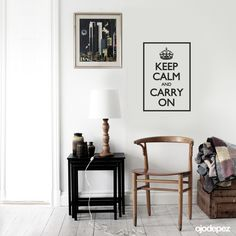 Vinilo decorativo Frase 019: Keep calm and carry on (Mantén la calma y continúa). Frases en vinilo Vinilos decorativos Frases Vinilos adhesivos Wall Art Stickers wall stickers