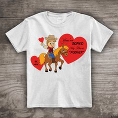 Valentines Day Cowboy t-shirt horses Personalized by StoykoTs