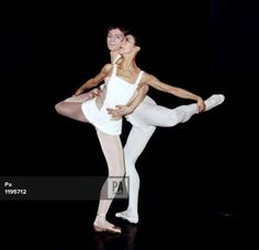 Margot Fonteyn and Rudolf Nureyev during a rehearsal of Roland Petit's new ballet 'Paradise Lost'…