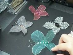 Skeleton leaves butterfly tutorial - more lovely ways to use skeleton leves